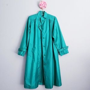 Windsor Bay 80's Vintage Rain Trench Coat